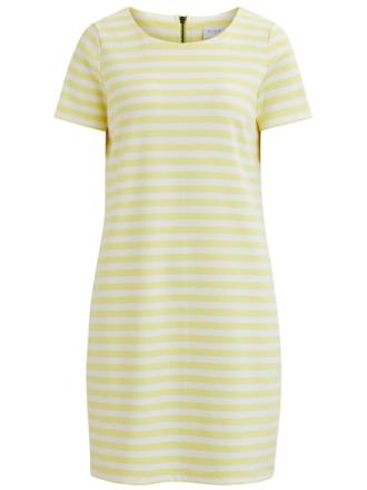 VILA Simple Short Sleeved Dress Women Yellow