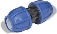 vidaXL PEM-forbindelse lige 16 bar 20mm Pakke med 2
