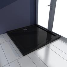 vidaXL Kvadratiskt ABS duschkar svart 80 x 80 cm