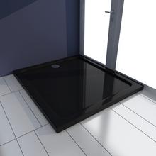vidaXL Rektangulärt ABS duschkar 80 x 90 cm svart