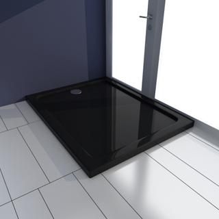vidaXL Rektangulärt ABS Duschgolv svart 70 x 90 cm