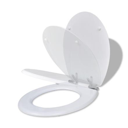vidaXL WC-istuin MDF soft close-toiminto Valkoinen