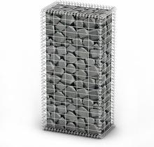 vidaXL Gabionkorg med lock galvaniserad tråd 100 x 50 x 30 cm