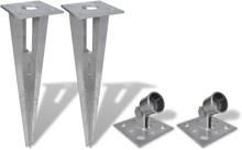 vidaXL Markspett med stolphållare 2 st stål