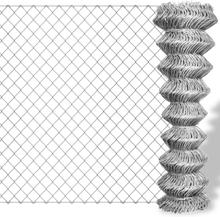 vidaXL Flätverksstängsel galvaniserat stål 25x0,8 m silver