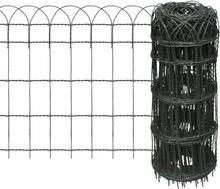 vidaXL Rabattkant pulverlackerat järn 10x0,65 m