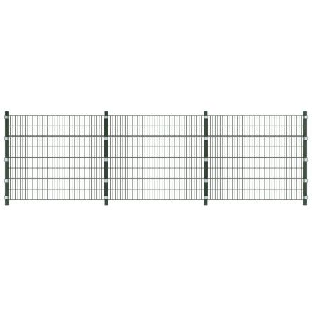 vidaXL 6 m Panel Staket med Stolpar 1,6 höjd