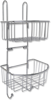 vidaXL Metal Bruser Hylde 2-Niveau med 2 Bøjler