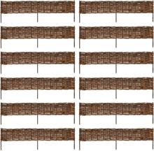 vidaXL Trädgårdsstaket Vide 120x35 cm 12-pack