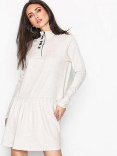 Noisy May Nmlilou L/S Above Knee Dress 1 Långärmade klänningar Vit