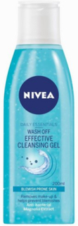 Nivea Wash Off Effective Cleansing Gel 200 ml Ansiktsrengöring Transparent