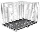 Hopfällbar Hundbur i Metall, XL