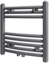 vidaXL Handdukstork centralvärme element båge grå 480 x 480 mm