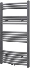 vidaXL Handdukstork centralvärme element båge grå 600 x 1160 mm