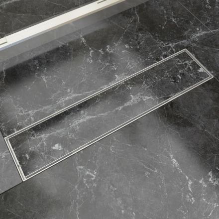 vidaXL Lineært bruseafløb 530x140 mm rustfrit stål