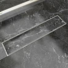 vidaXL Avlång golvbrunn 530x140 mm rostfritt stål