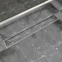 vidaXL Lineært bruseafløb 830x140 mm rustfrit stål