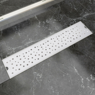 vidaXL Lineært bruseafløb bobledesign 530x140 mm rustfrit stål