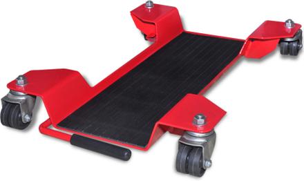 vidaXL Garageplatta centralstöd för motorcyklar röd