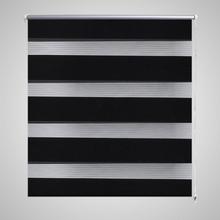 vidaXL Rullgardin Zebra 120 x 175 cm svart