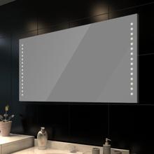 vidaXL Badrumsspegel med LED-lampor 100 x 60 cm (L x H)