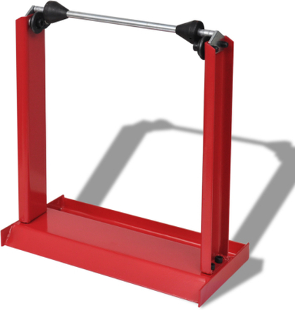 vidaXL Hjulbalanserare MC professionell röd