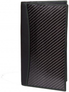 Leather and carbon fiber Passport Holder