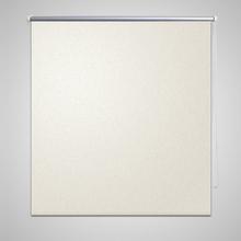 vidaXL Rullgardin mörkläggande 60x120 cm benvit