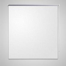 vidaXL Rullgardin för mörkläggning 140 x 230 cm vit