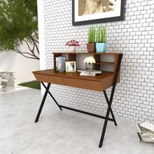 vidaXL Skrivbord med 2 lådor brun
