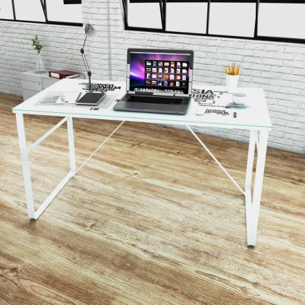 vidaXL Suorakulmainen Työpöytä Kartta-kuviolla