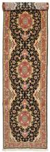 Tabriz 50 Raj med silke matta 84x390 Persisk, Avlång Matta