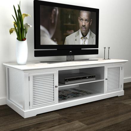 vidaXL TV-bänk i trä vit