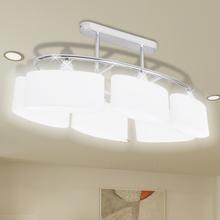 vidaXL Taklampa med elipsoida glaskupor för 6 E14-lampor