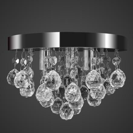 vidaXL Takkrona kristall och kromad