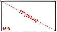vidaXL Manuell projektorskjerm/lerret 160 x 90 cm matt hvit 16:9