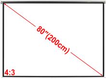 vidaXL Projektionsskærm 160x123cm 4: 3 tag / væg