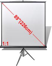 vidaXL Fremskrivning 160x160cm 1: 1 med stativ