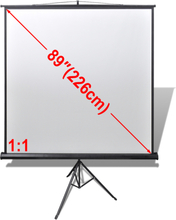vidaXL Projeksjonsskjerm høydejusterbart stativ 160 x 160 cm 1: 1