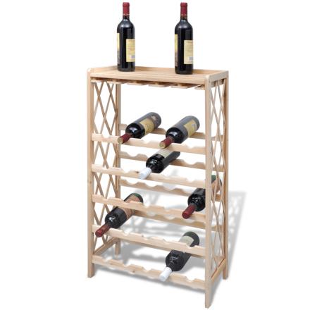 Vinhylla i trä vinställ för 25 flaskor