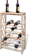 vidaXL Vinställ för 25 flaskor trä