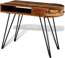 vidaXL Uusiokäytetystä puusta valmistettu pöytä rautajaloilla