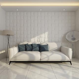 vidaXL Vægpanel 3D firkantet 0,5 m x 0,5 m 24 paneler 6 m²