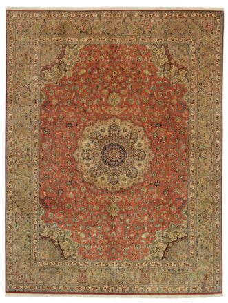 Tabriz 50 Raj med silke signert: Pornami teppe 300x395 Persisk Teppe