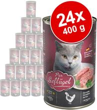 Sparpaket Leonardo All Meat 24 x 400 g - Reich an Kaninchen