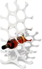 vidaXL Vinställ för 15 flaskor aluminium silver