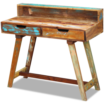 vidaXL Kirjoituspöytä Kierrätetty Puu