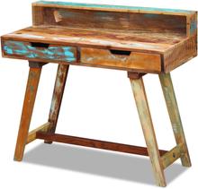 vidaXL skrivebord massivt genbrugstræ