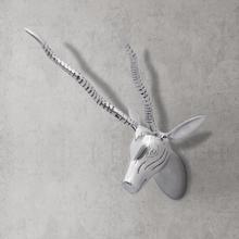 vidaXL Veggmontert gaselledekorasjon aluminium sølv 33 cm