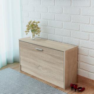 vidaXL skoopbevaringsmøbel egetræsfarvet 80x24x45 cm